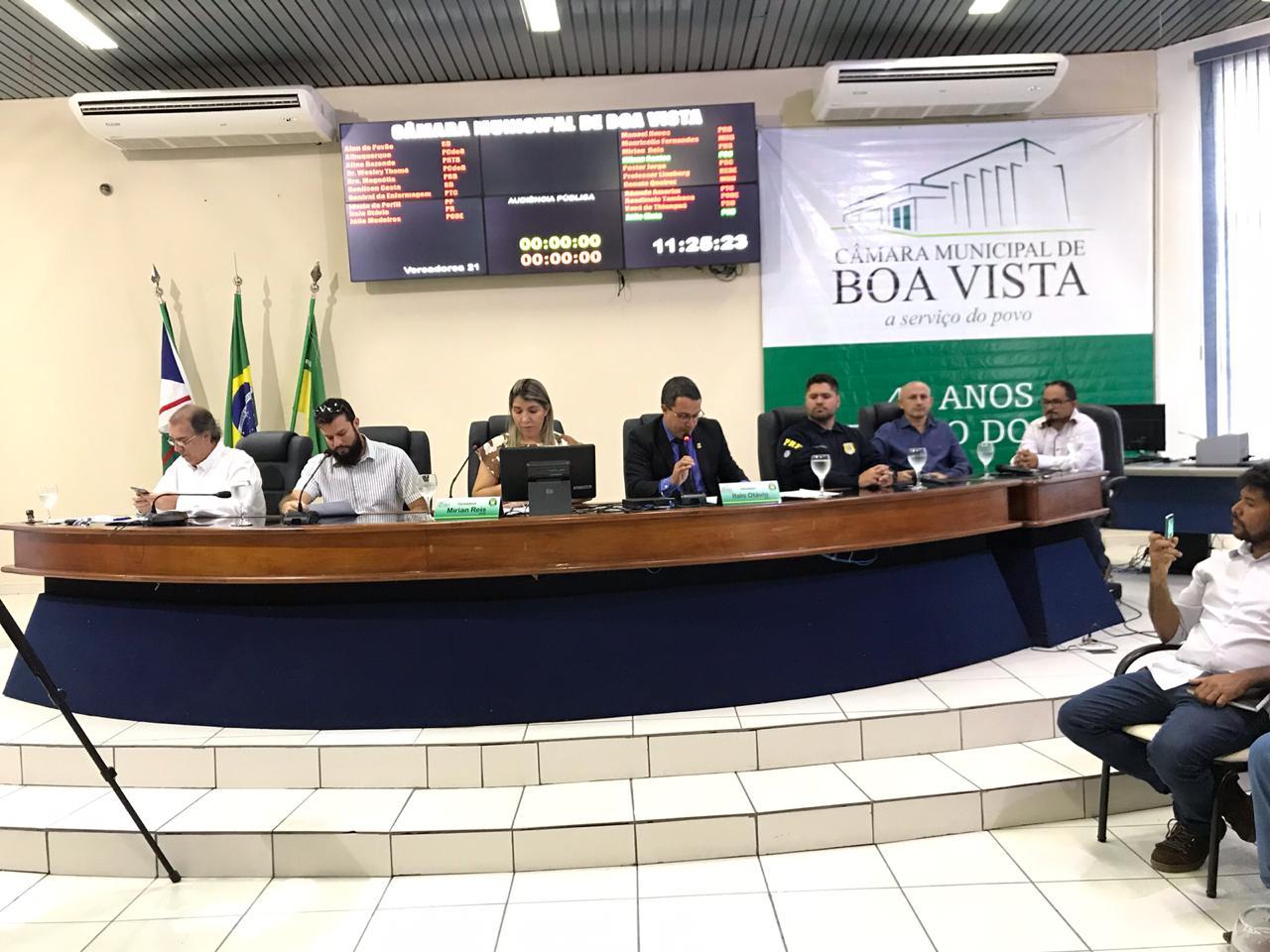 Audiência debate   regulamentação do horário de carga e descarga de mercadorias em Boa Vista