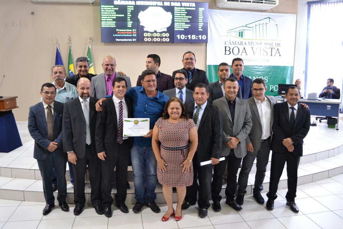 Câmara entrega Título de Cidadão Boavistense a Eugênio Thomé, ex-secretário estadual de Agricultura