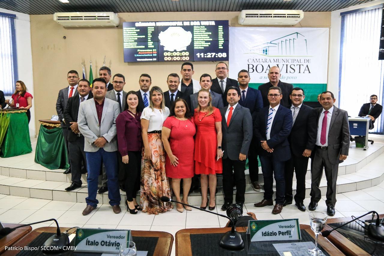 No retorno da Câmara, Mauricélio e Teresa citam parceria na 'reconstrução' e 'transformação' de Boa Vista
