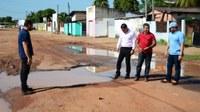 Vereadores de Boa Vista visitam avenida do bairro Nova Canaã